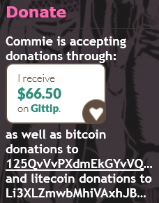 Commie Donations