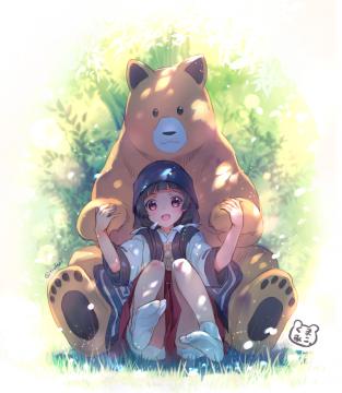 Kumamiko-Machi_and_Natsu_-_PixivID-64821