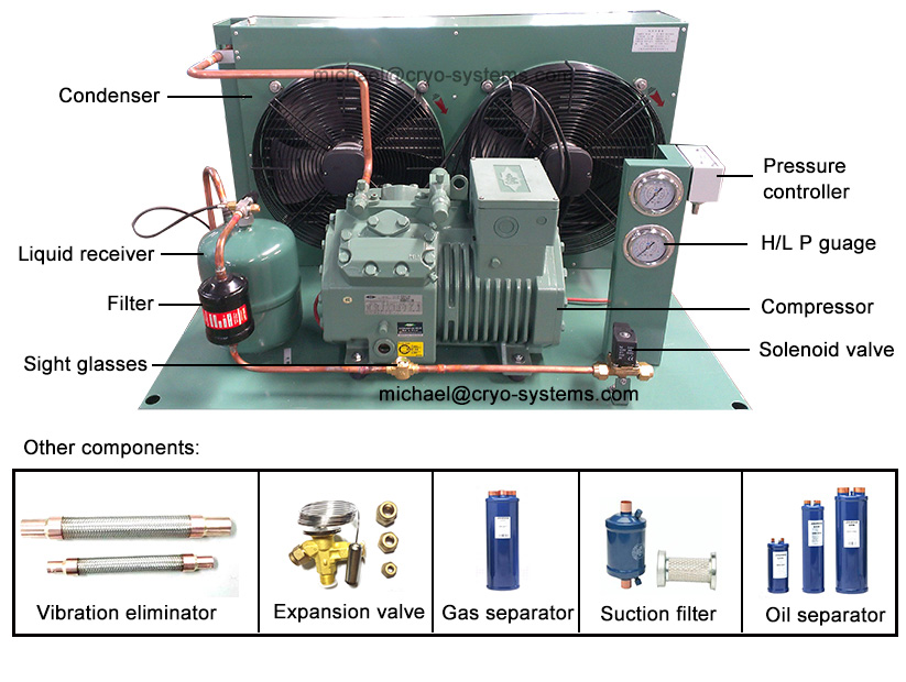 gas solenoid valve wiring diagram wireless network topology bitzer cold room condensing unit & refrigeration compressor