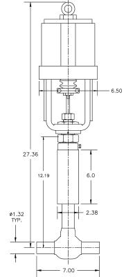 Cryogenic Valve Model C2081-B23A-1253