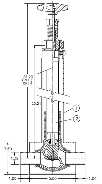 Liquid Helium Valve Model C3081-M21