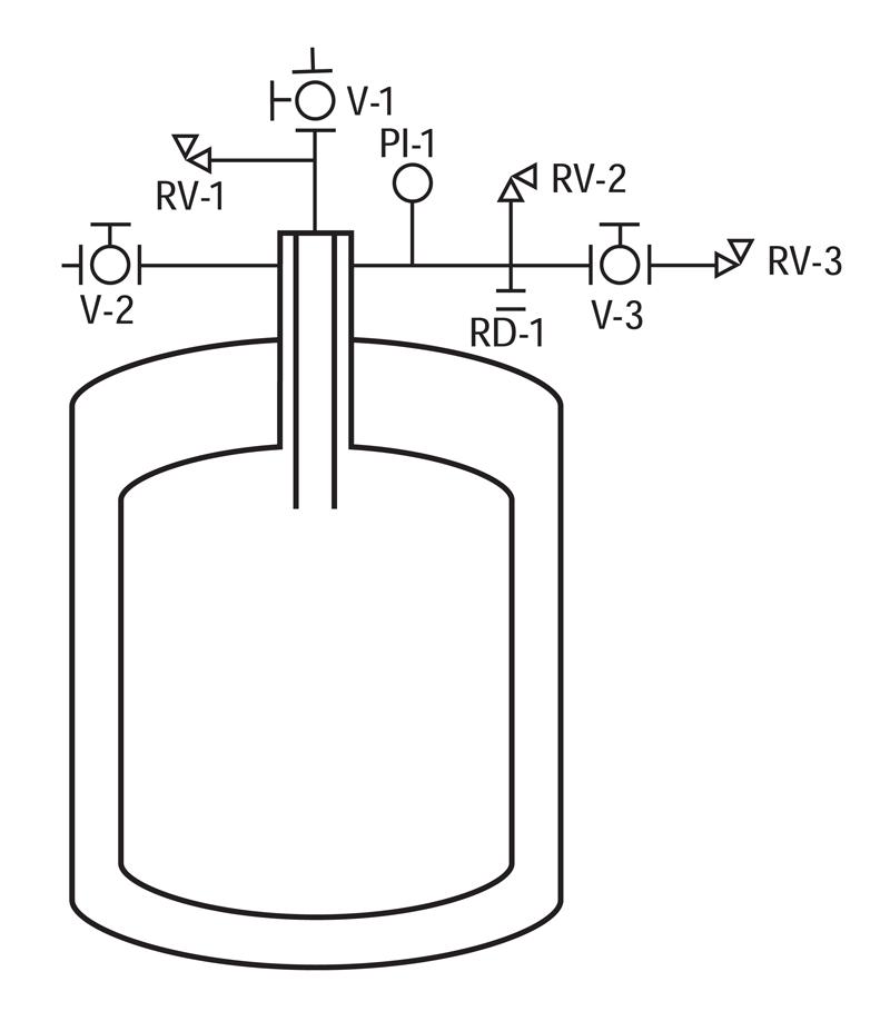 liquid helium cryogenic tank piping schematic