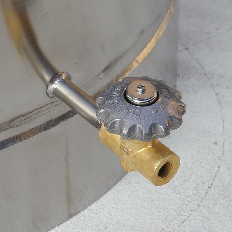 cryo dewar featuring bottom drain