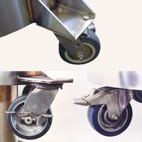 outboard wheels for cryogenic tanks
