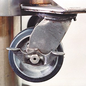 wing nut locking casters for cryo tank