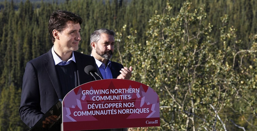 Prime Minister Justin Trudeau in Whitehorse, Yukon.