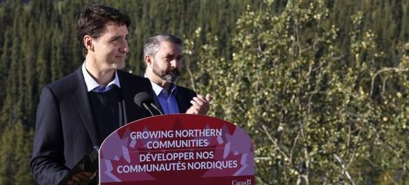 Prime Minister Justin Trudeau in Whitehorse, Yukon.