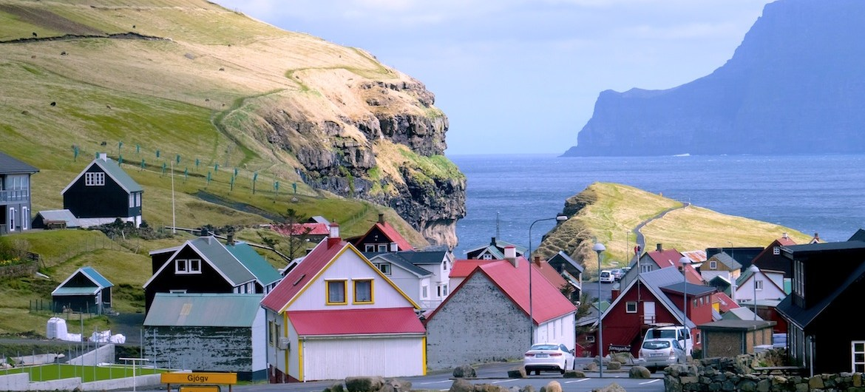 The town of Gjøgv in the Faroe Islands.