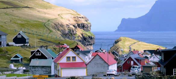 The town of Gjøgv in the Faroe Islands.