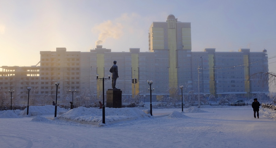 Yakutsk, Russia in winter.