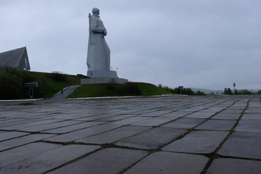 The statue of Alyosha, Russia's second tallest. It is more formally known as the Monument to Defenders of the Soviet Arctic during the Great Patriotic War.