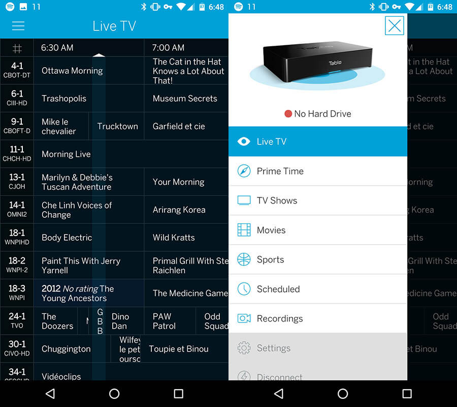 TabloTV_live_grid_hamburger_menu