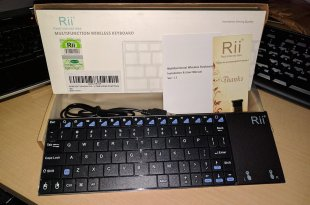 Rii K12BT Bluetooth Ultra Slim portable keyboard with trackpad