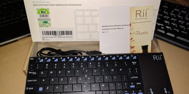 Rii K12BT Bluetooth Ultra Slim portable keyboard with trackpad