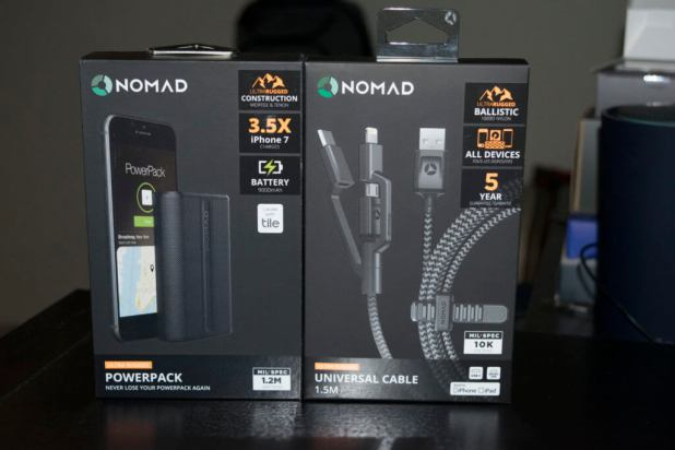 NOMAD universal cable and powerbank cryovex