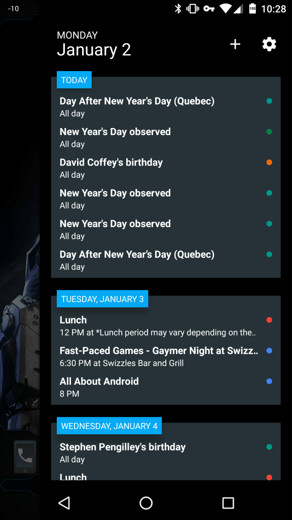 Action Launcher 3 - Quick Page with widget