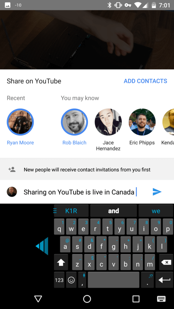 New YouTube sharing feature is live in Canada but its invite only everywhere else... 12