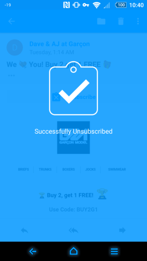 Email by EasilyDo unsubscribe cryovex header