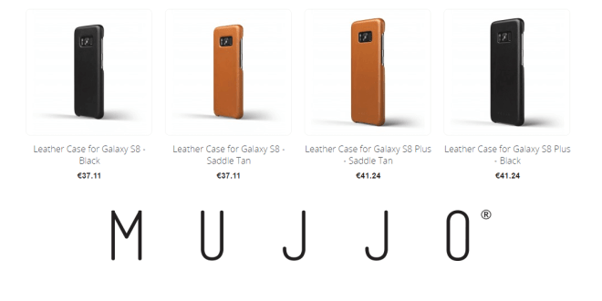 Mujjo luxury leather cases S8 and S8 Plus