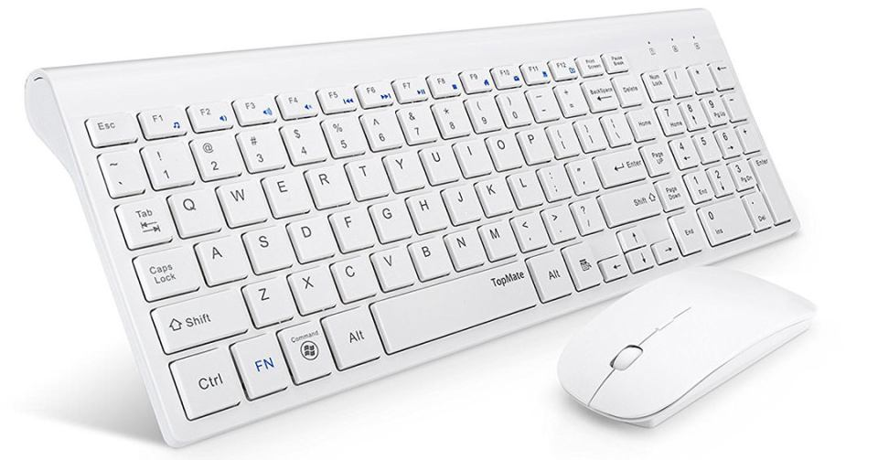 TOPMATE KM9000 ultra-thin wireless keyboard mouse combo header