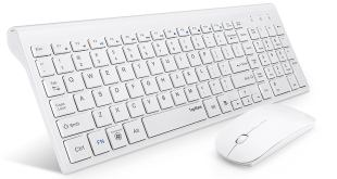 TOPMATE KM9000 ultra-thin wireless keyboard mouse combo header