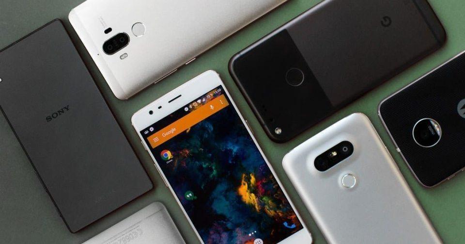 metal glass smartphone