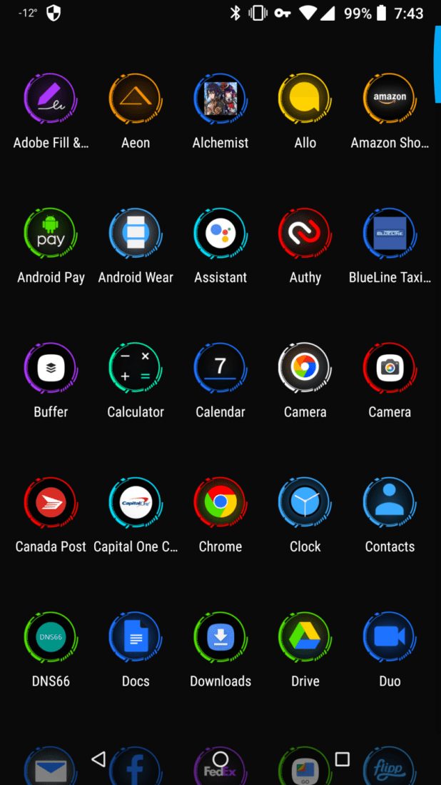 Aeon Icon Pack Martin Android News Theme