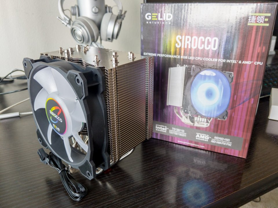 GELID SIROCCO CPU RGB Cooler review