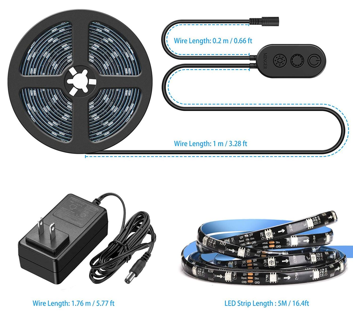 online retailer 9b481 b074d Minger Dreamcolor RGB LED strip lights review | Android News ...