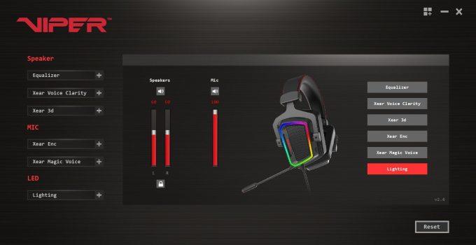 Gaming Headset Patriot Viper V380 Review headset settings