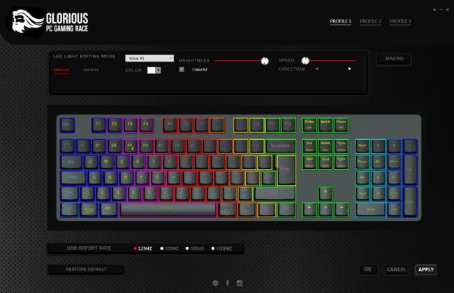 Glorious GMMK Gaming Keyboard software