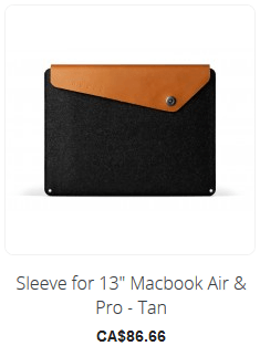 Sleeve for 13inch Macbook Air & Pro - Tan