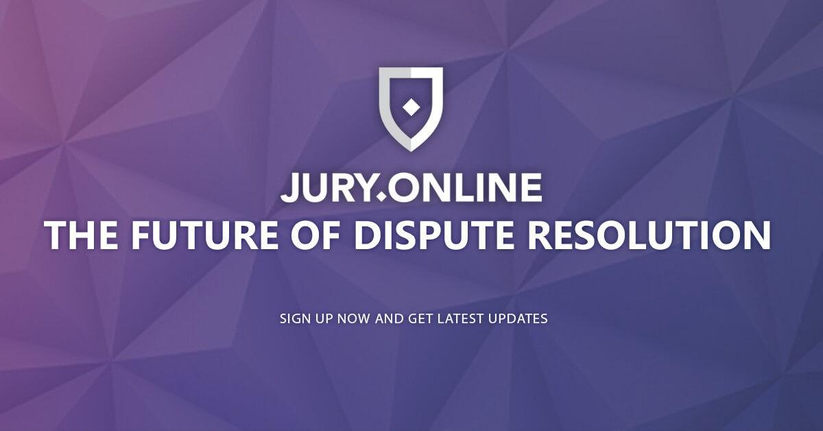 منصةJury.Online لحل النزاعات بإستخدام العقود الذكية تطلق حملة البيع الأولي للعملة ICO