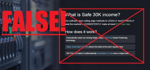 30K Income Scam