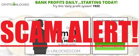 Crypto Unlocked Scam Alert