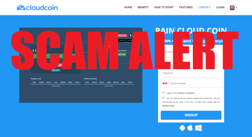 Rain Cloud Coin Scam