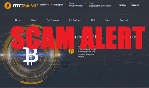 BTC Rainfall Scam Alert
