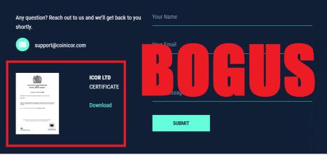 Coinicor.com alert