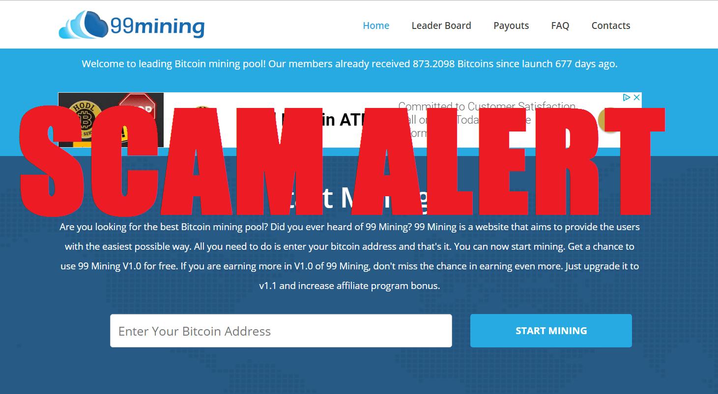 99 Mining Scam Review - DANGER! BTC SCAM AHEAD!