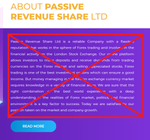 Passive Rev Share LTD Alert