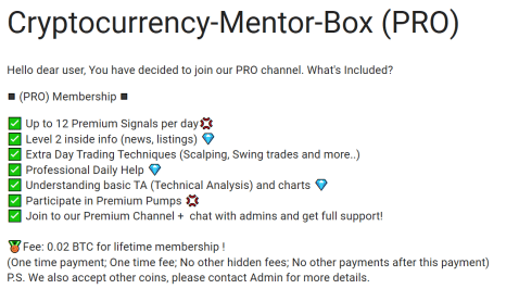 Cryptocurrency Mentor Box Premium