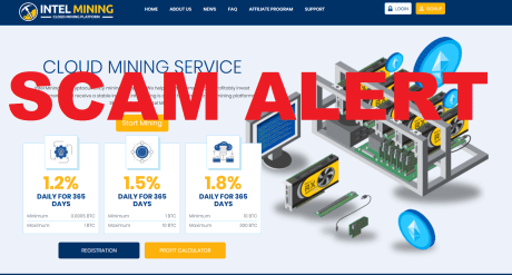 Intel Mining Scam Warning