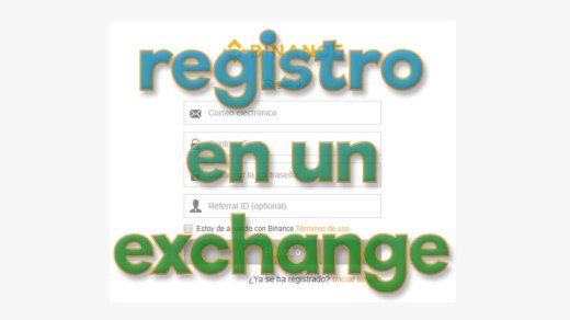 registro en un exchange