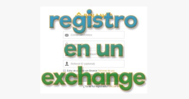 registro en un exchange
