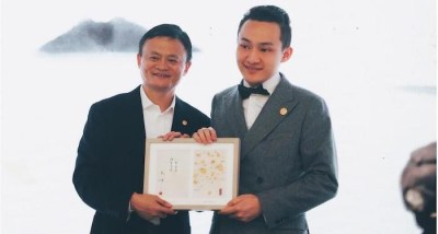 TRON Founder Justin Sun with Jack Ma