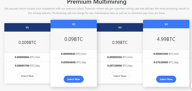Multimining Website – Buying The Stars | Reliable Crypto