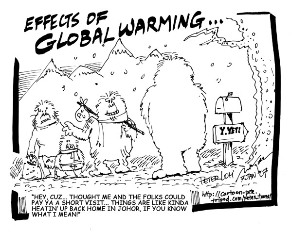 Cryptomundo » Sunday Comics: The Effects of Global Warming?