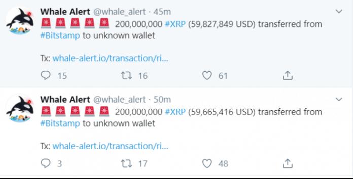 Ripple XRP whale transaction - Whale Alert