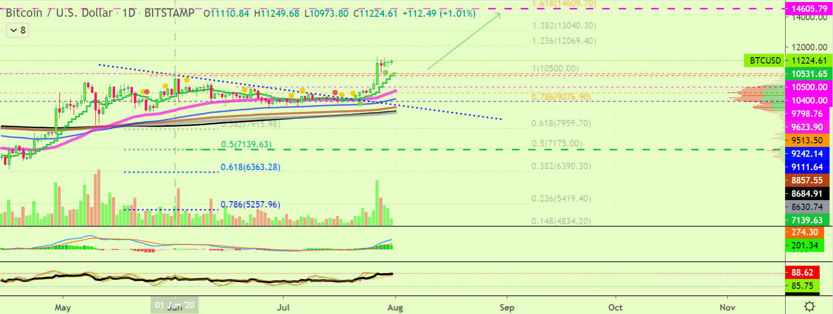 Bitcoin price chart 2 - 31 July
