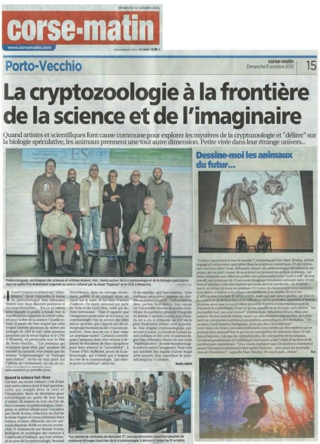 La cryptozoologie à la frontirèe de la science et de l'imaginaire